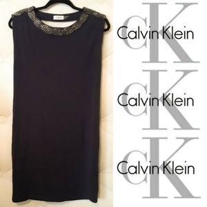 New! Calvin Klein Beaded Open Back Dress!💍
